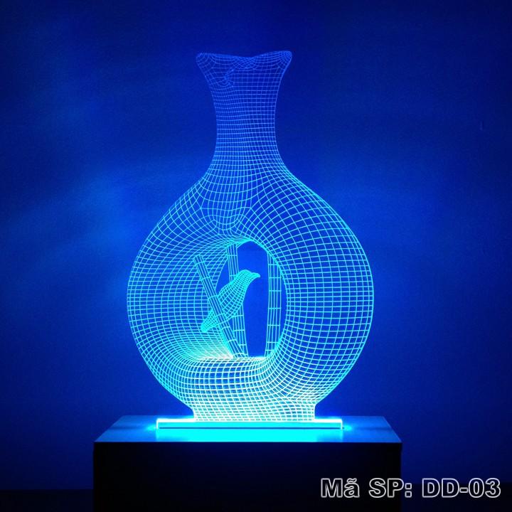 Đèn ngủ 3D hình bình hoa