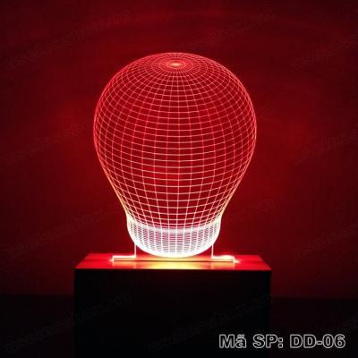 [Size lớn] Đèn ngủ 3D hình bóng đèn Bulb - Acrylic cao cấp 5mm - Đế gỗ 16 màu có remote